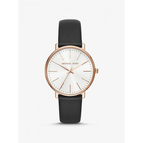 Đông hồ Nữ - Michael Kors Pyper Gold-Tone and Leather Watch (6 màu)