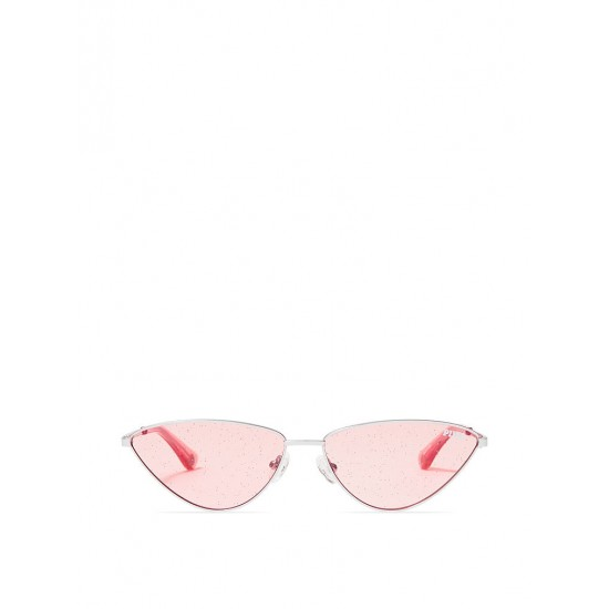 Mắt kính Nữ - Victoria's Secret Pink Metal Cat Eye Shimmer Sunglasses