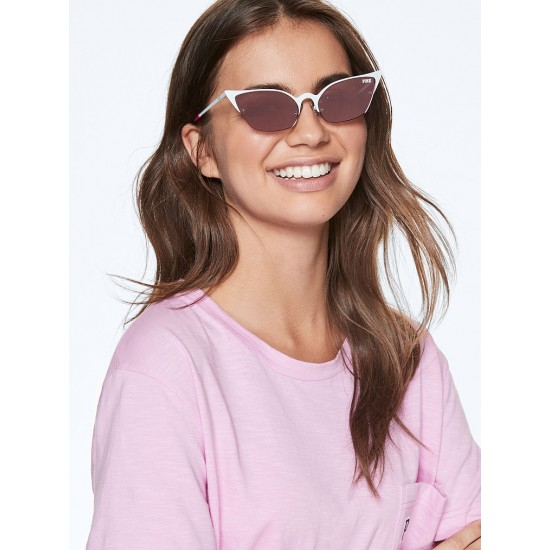 Mắt kính Nữ - Victoria's Secret Pink Rimless Cat Eye Sunglasses