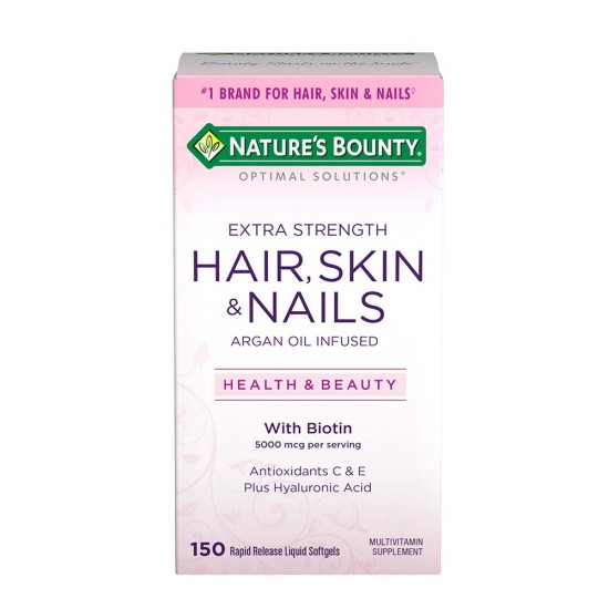 Vitamin hỗ trợ Da/Móng/Tóc - Nature's Bounty® Optimal Solutions Hair Skin & Nails Extra Strength (150 viên)